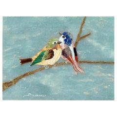 Birds on a Branch Mosaic Tableau by Scarpelli Mosaici