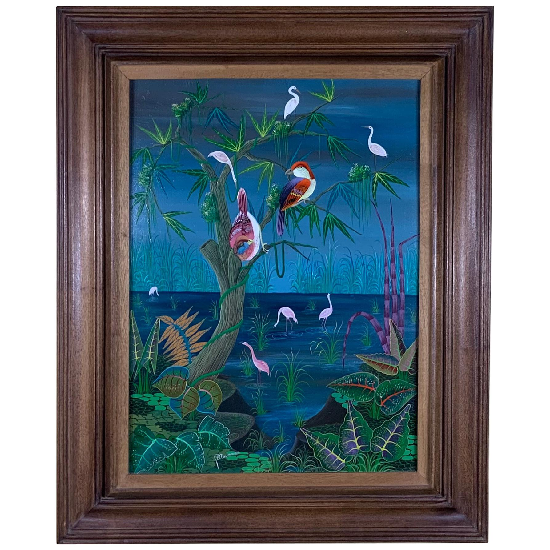 Birds over Paradise Oil Painting