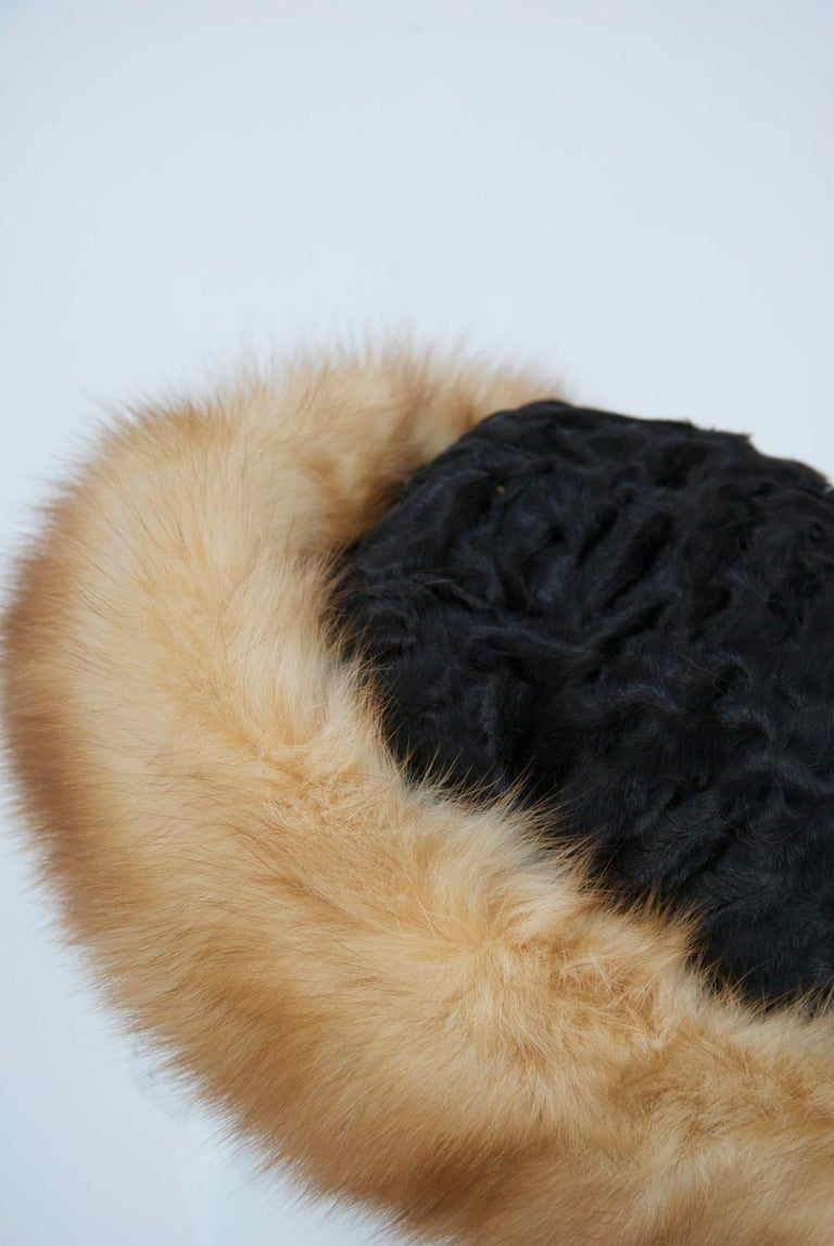 Women's Birger Christensen Broadtail and Sable Hat For Sale