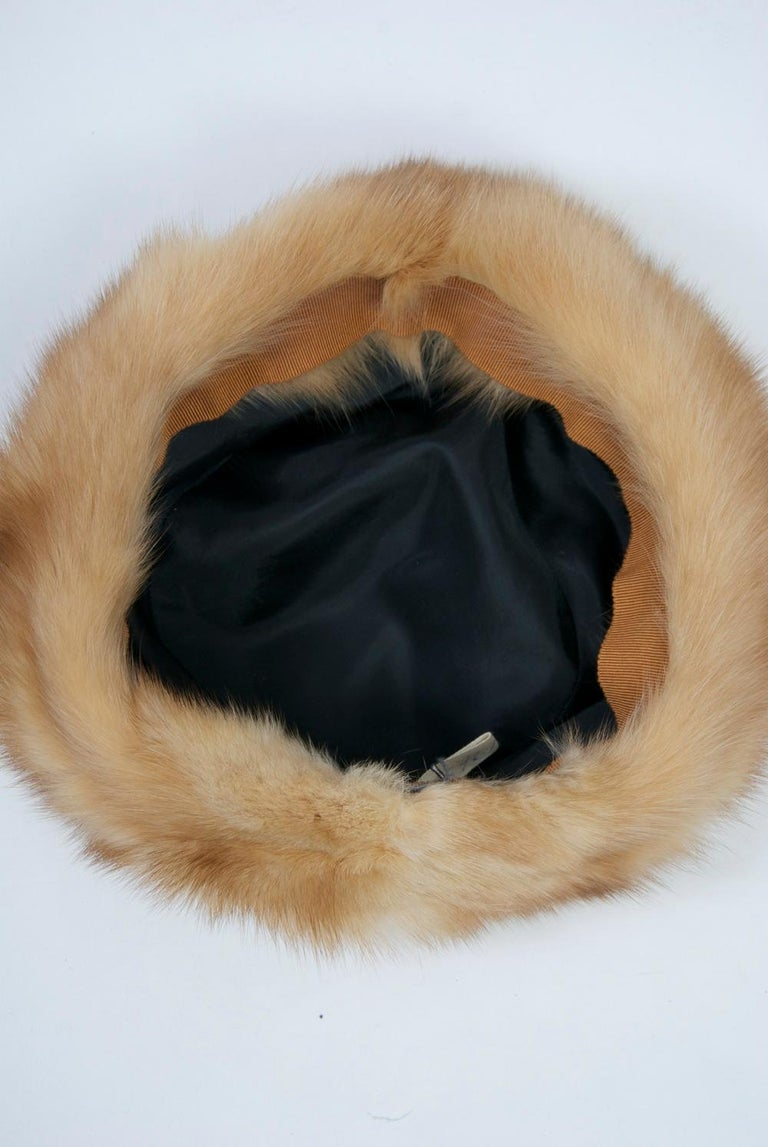 Birger Christensen Broadtail and Sable Hat For Sale 2