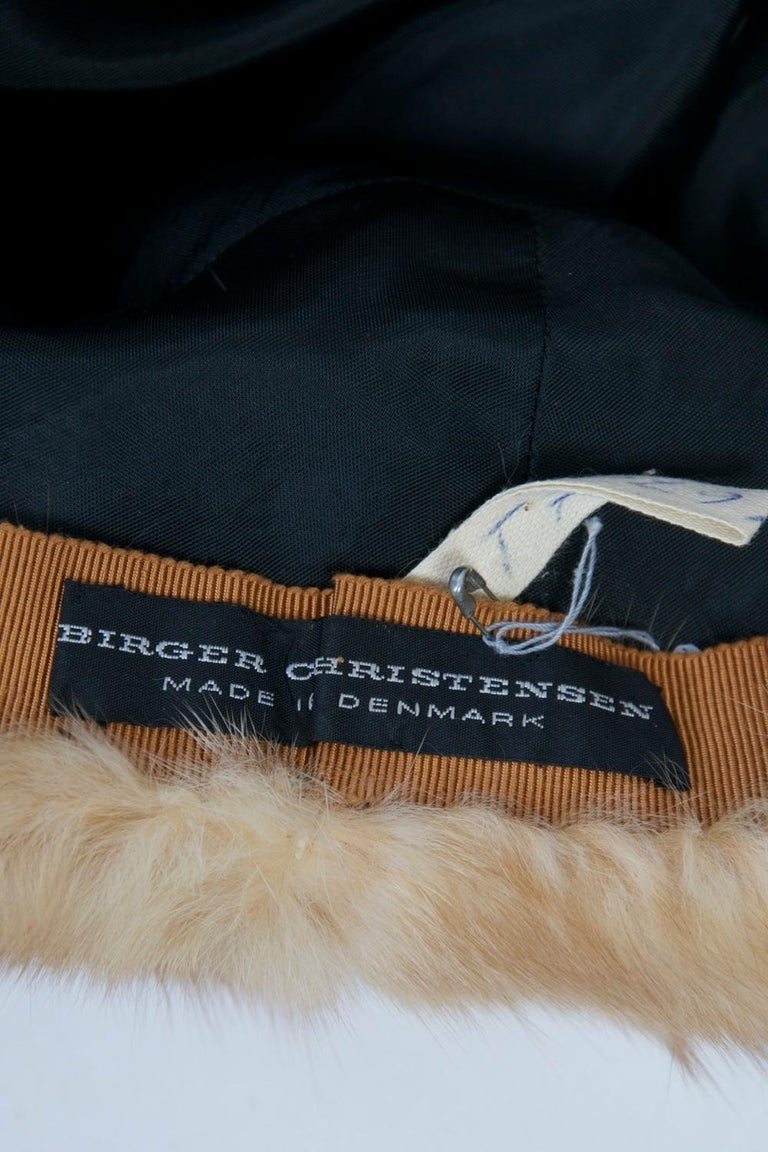 Birger Christensen Broadtail and Sable Hat For Sale 3