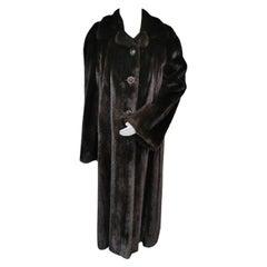 Pre-owned Birger Christensen Ranch Female Mink Fur Trench Coat (Size 14-M/L)