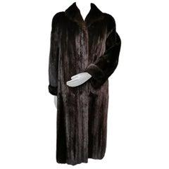 Birger christensen ranch mink fur coat size 8