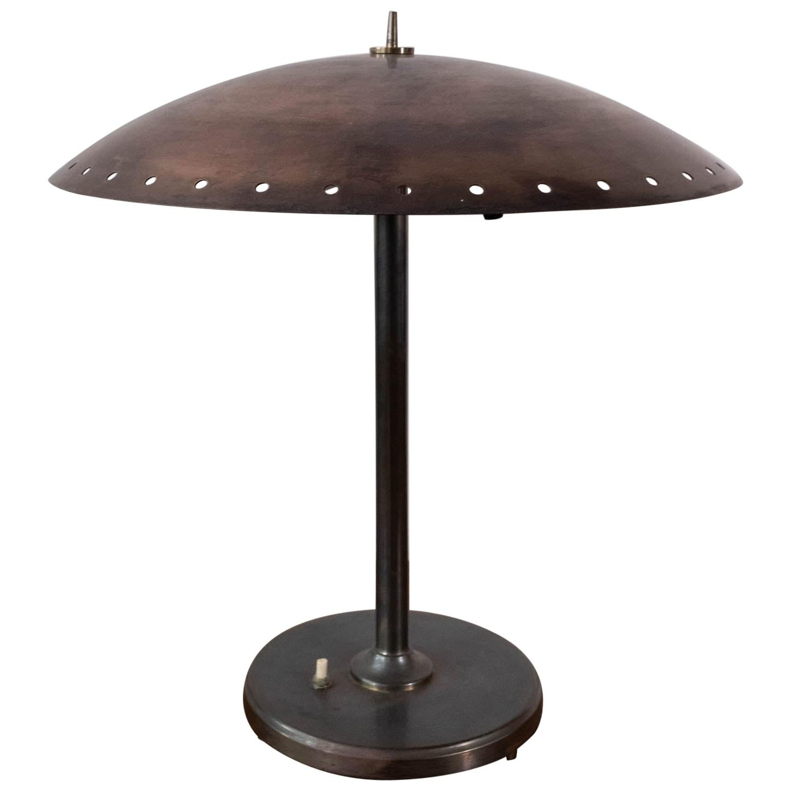 Birger Dahl Sonnico Brass Table Lamp, Norway, 1950s