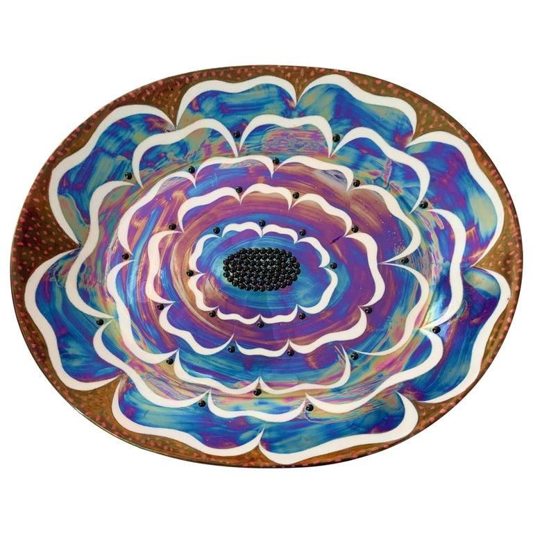 "Birger Kaipiainen, Ceramic Wall-Platter ""Florence"", Arabia Pro Arte, Finland For Sale"