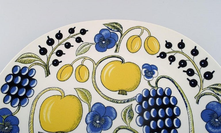 Scandinavian Modern Birger Kaipiainen for Arabia, Large Paratiisi Dish, Late 20th Century For Sale