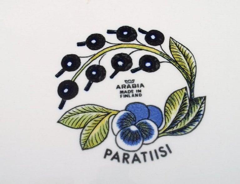 Finnish Birger Kaipiainen for Arabia, Large Paratiisi Dish, Late 20th Century For Sale