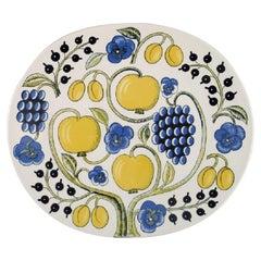 Birger Kaipiainen for Arabia, Large Paratiisi Dish, Late 20th Century
