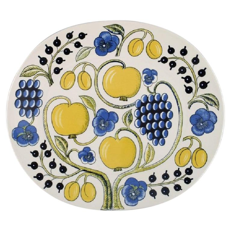Birger Kaipiainen for Arabia, Large Paratiisi Dish, Late 20th Century For Sale