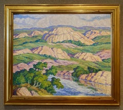 """""""ROLLING HILLS""""  LARGE PIECE 40"""" x 48"""" ORIGINALLY FROM HIS DAUGHTERS COLLECTION"""