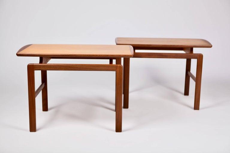 Scandinavian Modern Birgitta Waldonen, a Pair of Side Tables in Teak, Finland, 1966 For Sale