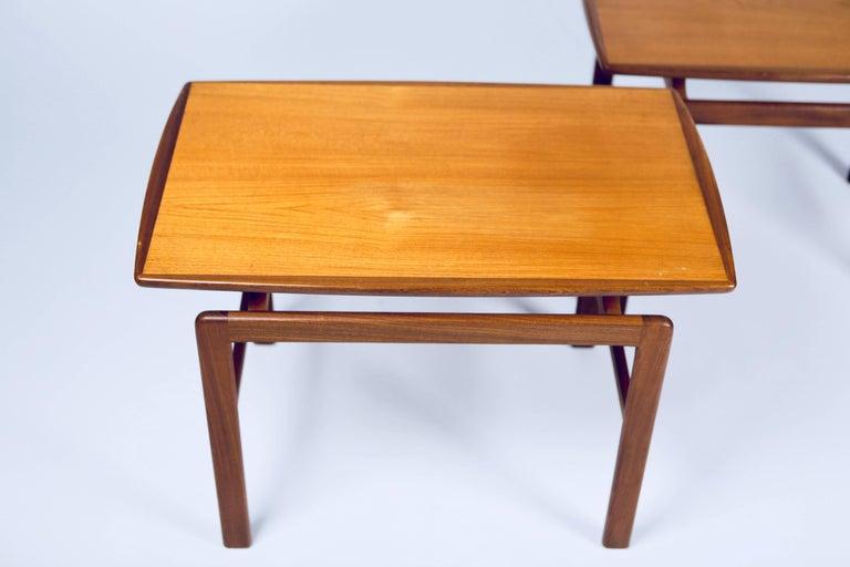 Finnish Birgitta Waldonen, a Pair of Side Tables in Teak, Finland, 1966 For Sale