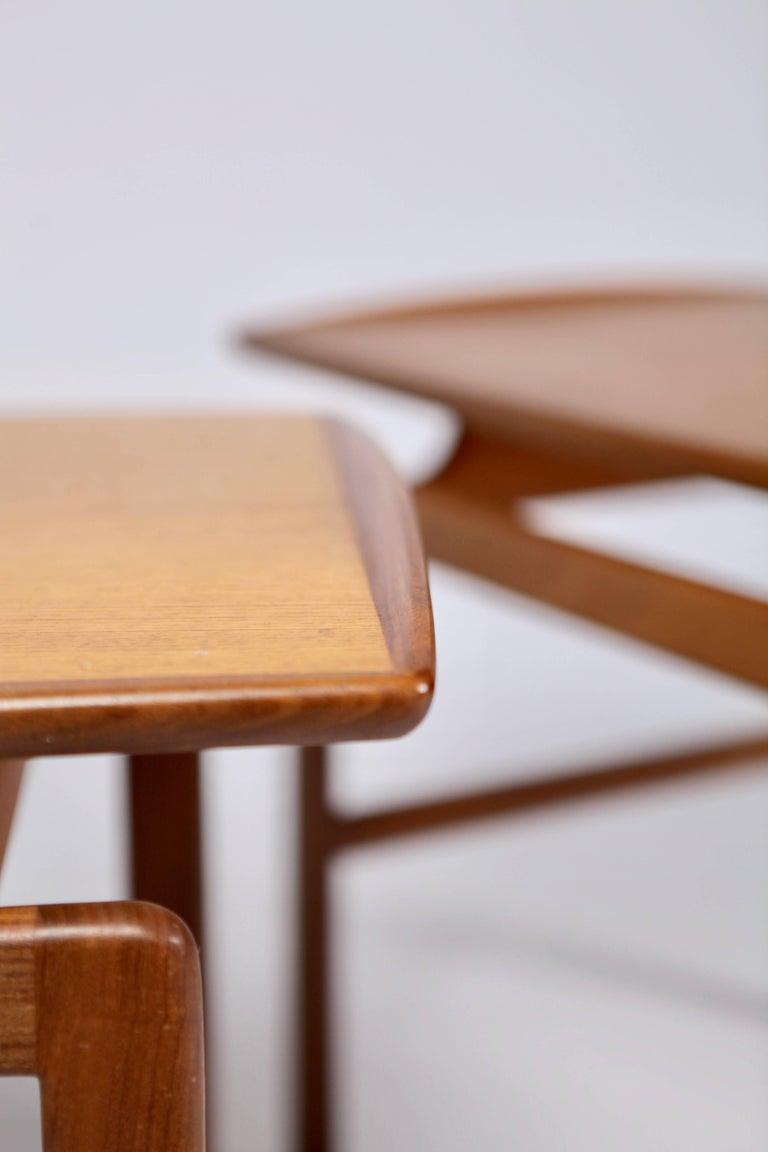 Birgitta Waldonen, a Pair of Side Tables in Teak, Finland, 1966 In Excellent Condition For Sale In , DE