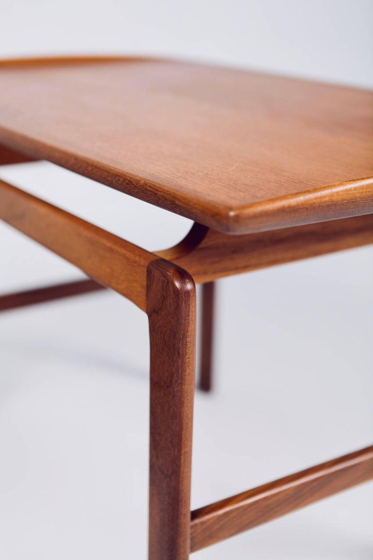 Birgitta Waldonen, a Pair of Side Tables in Teak, Finland, 1966 For Sale 1