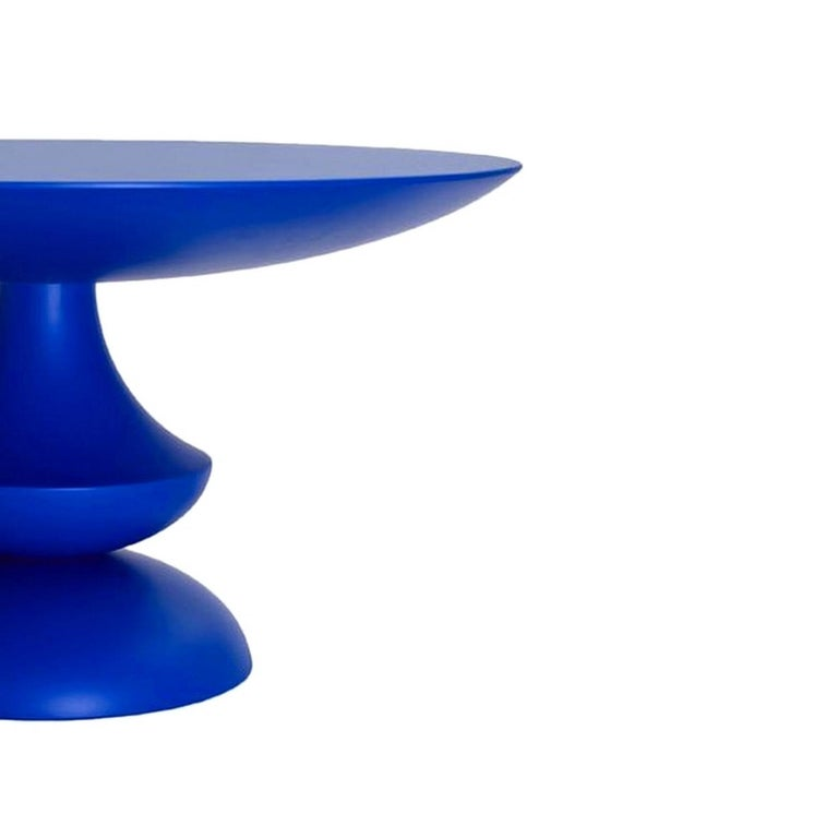 Modern In stock in Los Angeles, Blue Lacquered Birignao Side Table by Feruccio Laviani For Sale