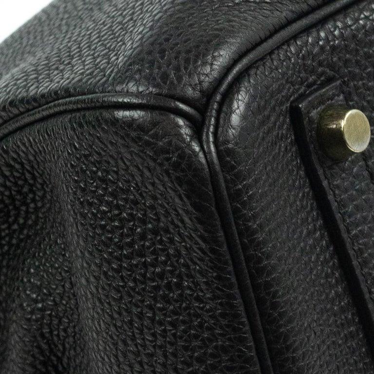 Birkin 35 in black leather For Sale 5