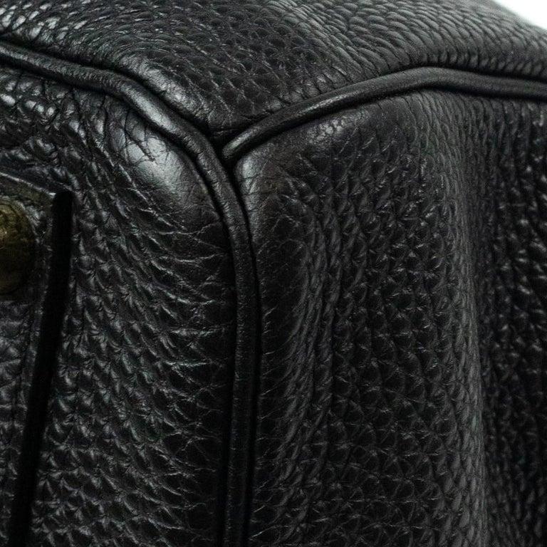 Birkin 35 in black leather For Sale 6