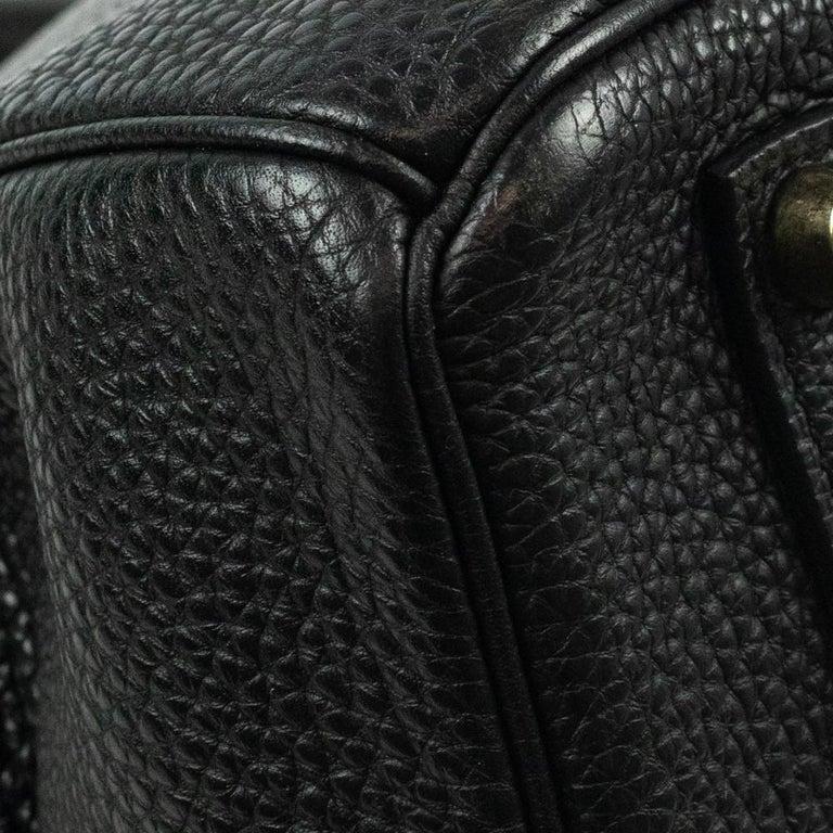 Birkin 35 in black leather For Sale 7