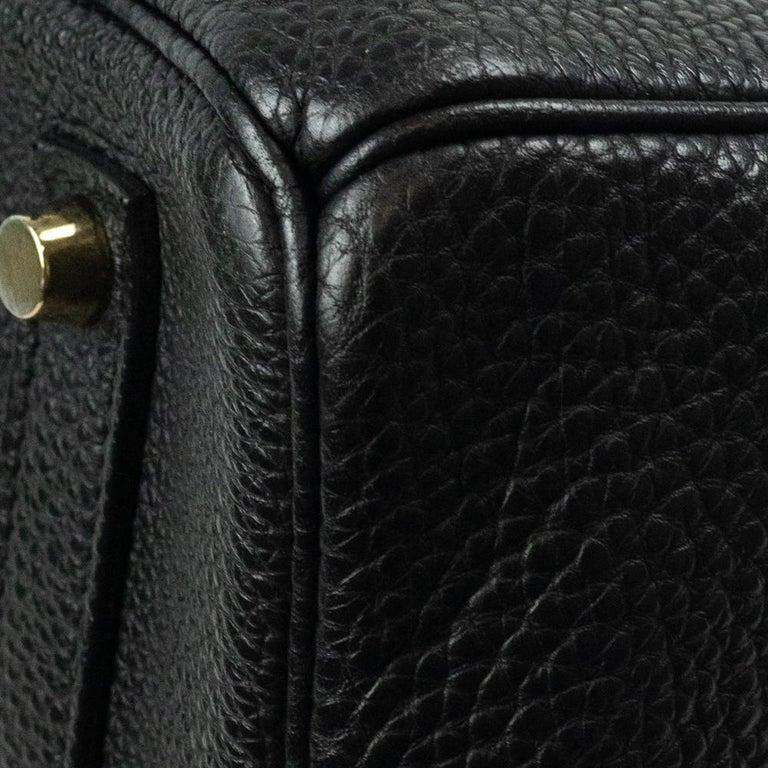 Birkin 35 in black leather For Sale 8