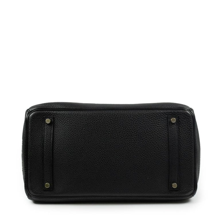 Birkin 35 in black leather In Good Condition For Sale In Clichy, FR