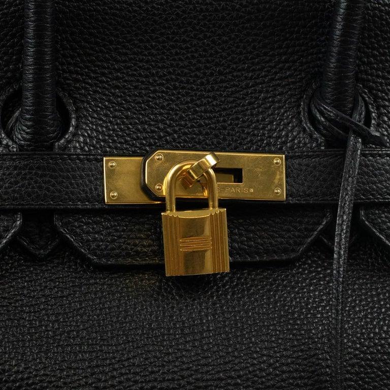 Birkin 35 in black leather For Sale 1