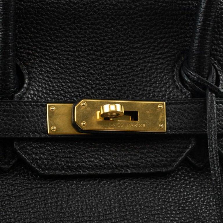 Birkin 35 in black leather For Sale 2