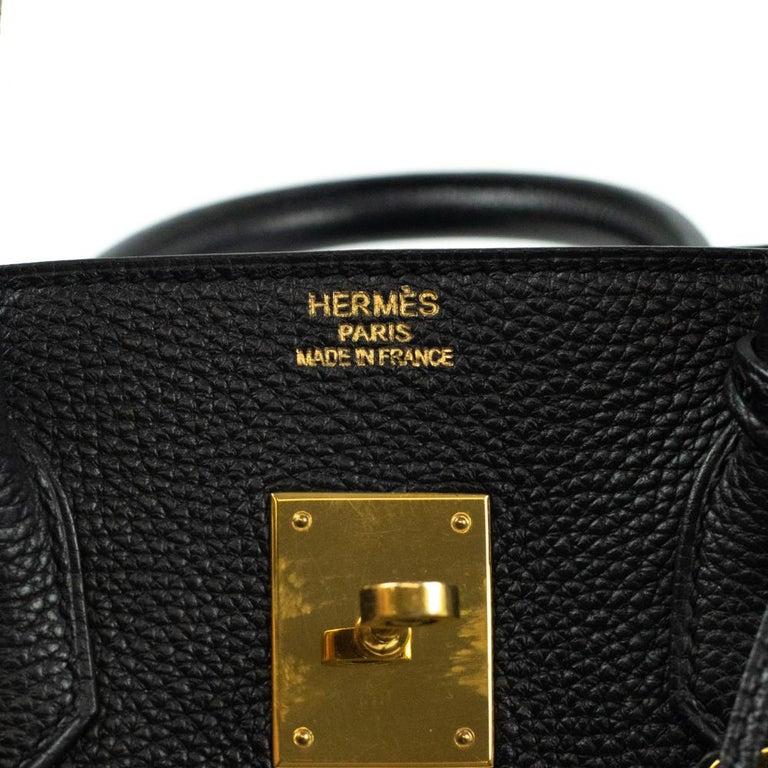 Birkin 35 in black leather For Sale 3