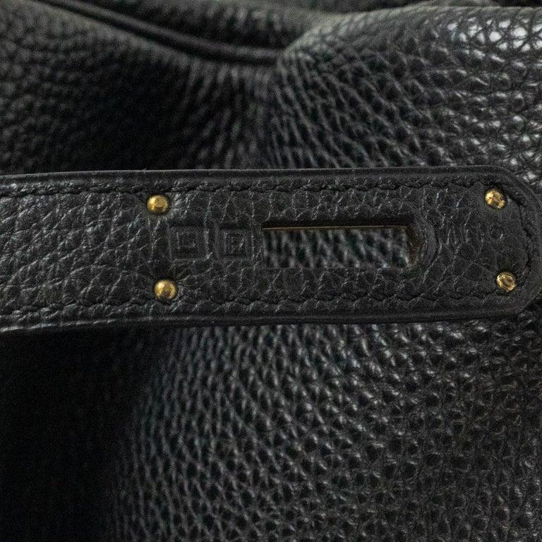 Birkin 35 in black leather For Sale 4