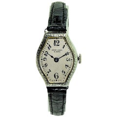 Birks and Sons Ladies White Gold Art Deco Manual Watch, circa 1930s