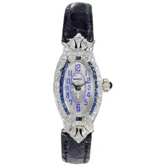 Birks and Sons Platinum Art Deco High Grade Ladies Watch, circa 1930s