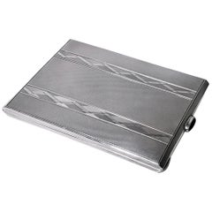 Birks Art Deco Sterling Cigarette or Card Case, circa 1930
