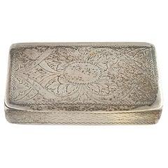 Birmingham England Edward Smith Sterling Silver Trinket/Snuff Box