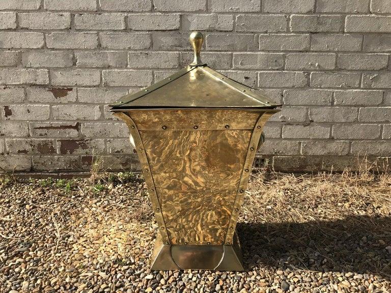 Birmingham Guild of Handicraft, Art & Crafts, Brass Coal Bucket For Sale 3