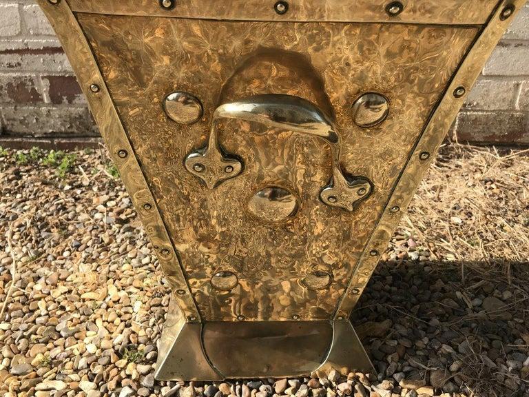 Birmingham Guild of Handicraft, Art & Crafts, Brass Coal Bucket For Sale 1