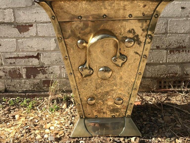 Birmingham Guild of Handicraft, Art & Crafts, Brass Coal Bucket For Sale 2