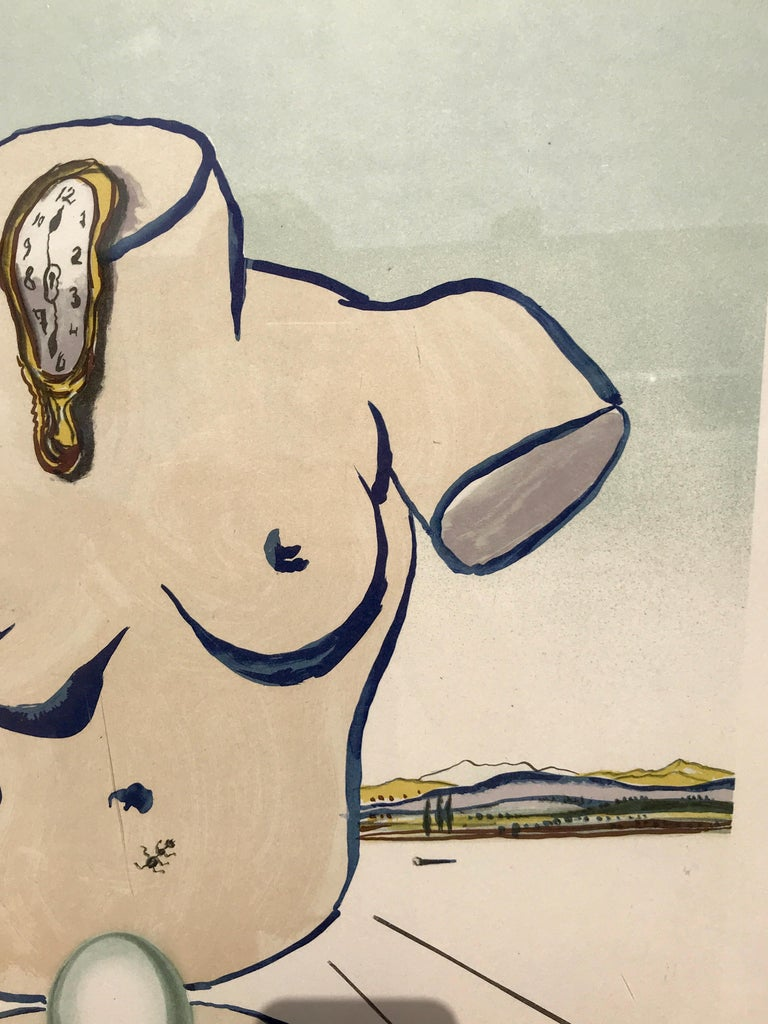 Modern Birth of Venus Lithograph by Salvador Dalí For Sale