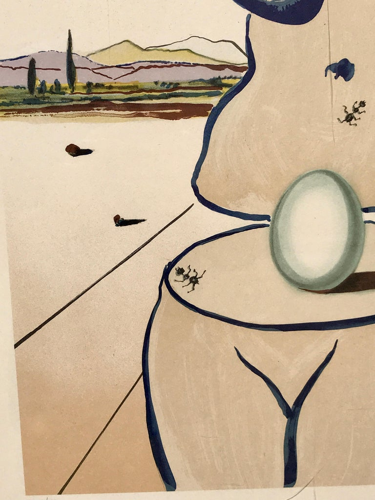 Late 20th Century Birth of Venus Lithograph by Salvador Dalí For Sale