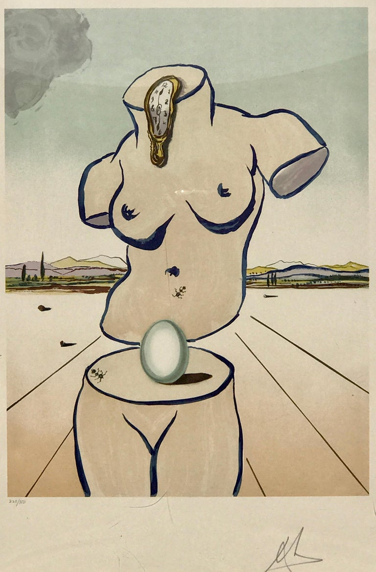 Birth of Venus Lithograph by Salvador Dalí For Sale 2