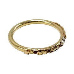 Birth Stone Name custom Ring 14k Gold J Dauphin