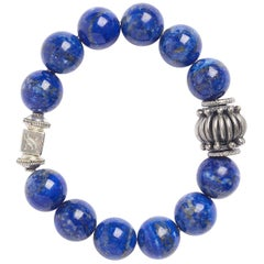 Blue Lapis Sterling Silver Biru Bracelet