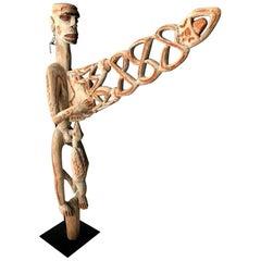Bis Pole Sculpture by Asmat People