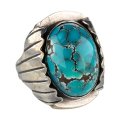Bisbee Turquoise Ring from Art Deco Era