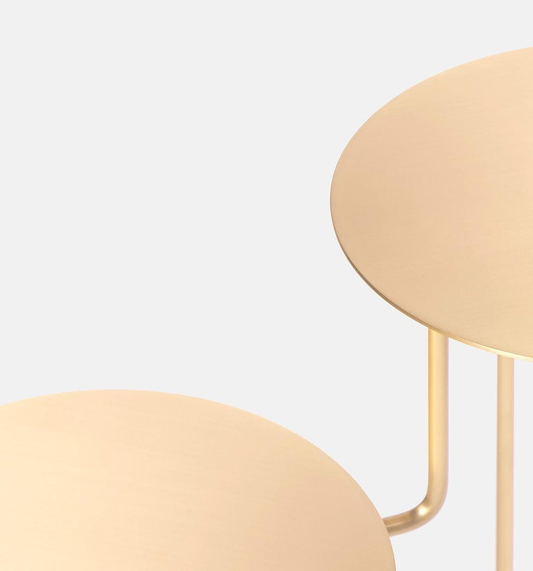 Modern Bistable Aureo Contemporary Brass Side Table Made in Italy by LapiegaWD For Sale