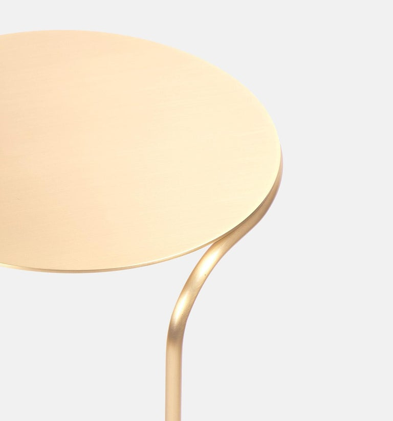 Italian Bistable Aureo Contemporary Brass Side Table Made in Italy by LapiegaWD For Sale