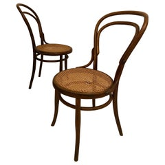 Bistro Cane Pair of Chairs Josef Hofmann, Vienna, circa 1905