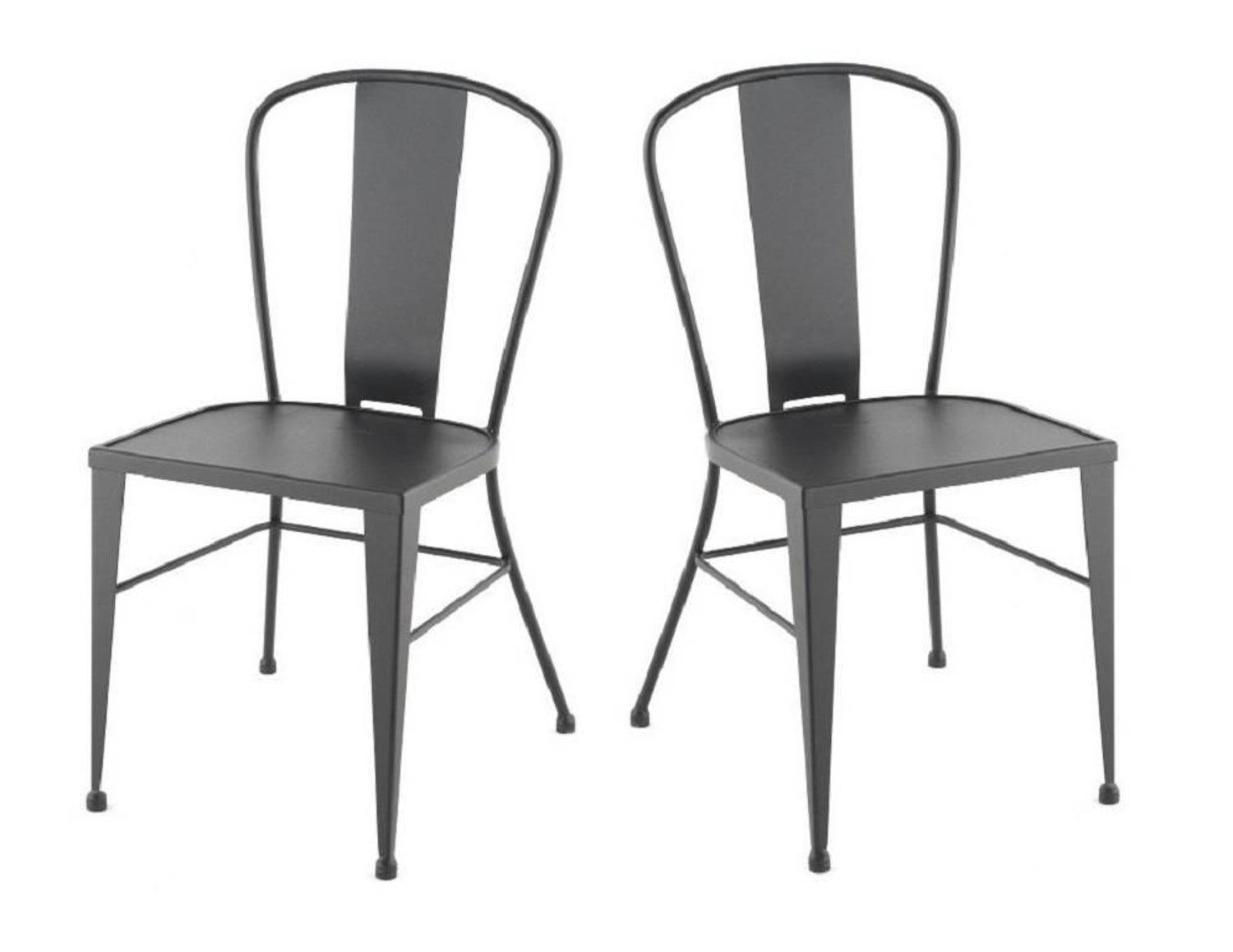 Bistro Garden Chairs in Colours Wrought Iron with Optional Wood Seat