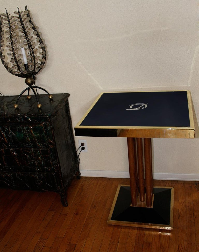 Bistro Table from Drouant Restaurant Paris In Good Condition For Sale In Encino, CA