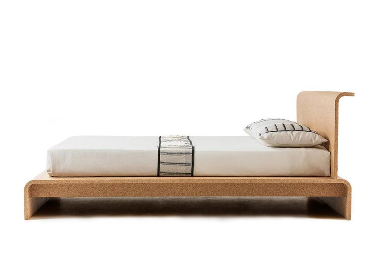 Modern BISU Cork Bed Frame by OTQ For Sale