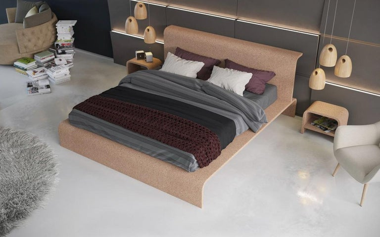 Contemporary BISU Cork Bed Frame by OTQ For Sale