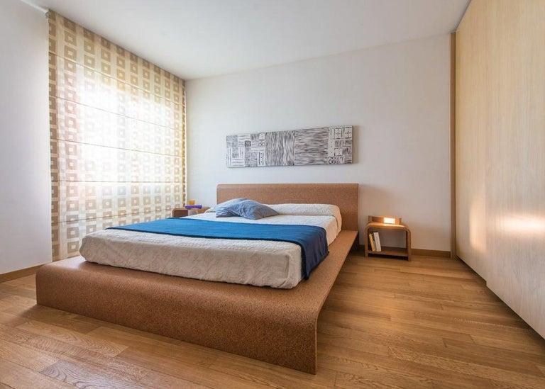 Modern Bisu Cork Bedside by Otq, 2 Pieces For Sale